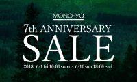 MONO-ya7周年セール開催